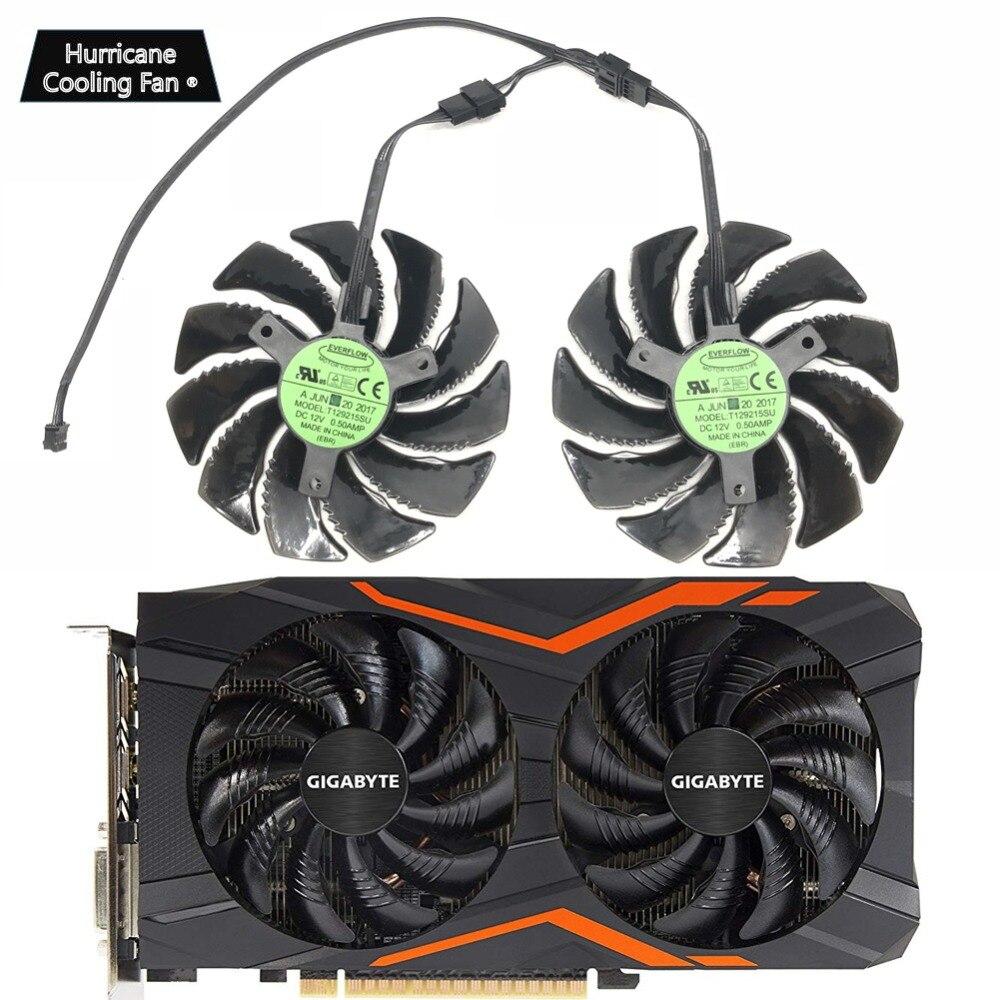Nuevo 88 MM T129215SU PLD09210S12HH 4Pin ventilador de refrigeración para Gigabyte GTX 1050, 1060, 1070, 960 RX 470, 480, 570, 580 tarjeta de gráficos más fresco