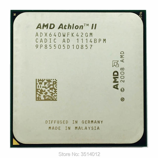 AMD Athlon II X4 640 3.0 GHz Quad Core מעבד מעבד ADX640WFK42GM שקע AM3