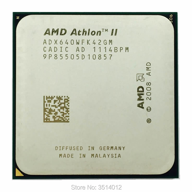 AMD Athlon II X4 640 3.0 GHz Quad-Core CPU Processor ADX640WFK42GM Socket AM3 title=