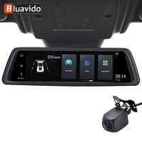 Bluavido 10 Mirror 4G Android Car Camera GPS FHD 1080P Dual Lens Vehicle rearview mirror Video Recorder ADAS WIF with Bracket