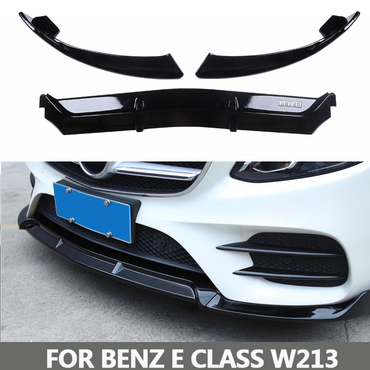 Front Bumper Lip for Benz w213 E class 2017 2018 цена и фото