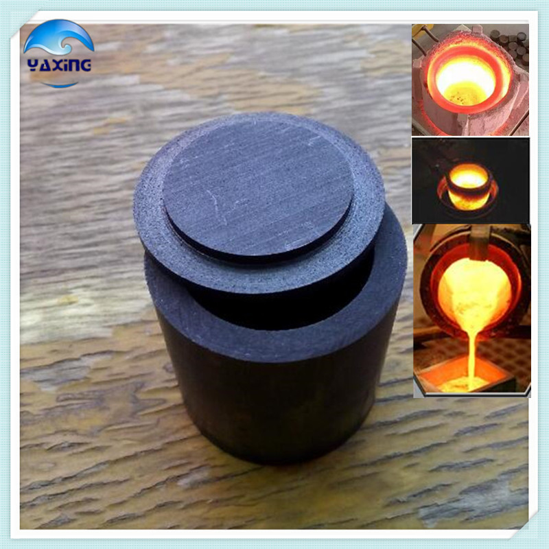 with cap graphite crucible for melting metal dia75x h80mm high pure melting graphite crucible for melting metal