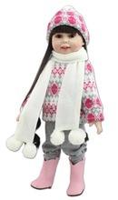 18 дюймов мода популярные Американские куклы девушки зимний костюм мода играть кукла игрушка образование для kids'christmas подарки