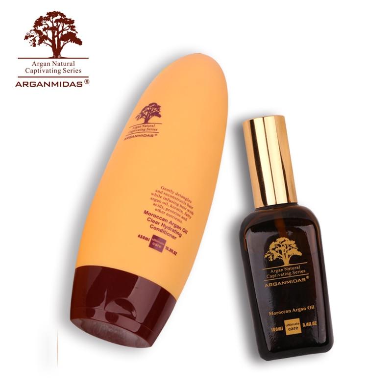 цена на Arganmidas Natural Plant 450ml Hair Conditioner and 100ml ARGAN OIL Best Deep Care Nourish Hair Product Free Shipping