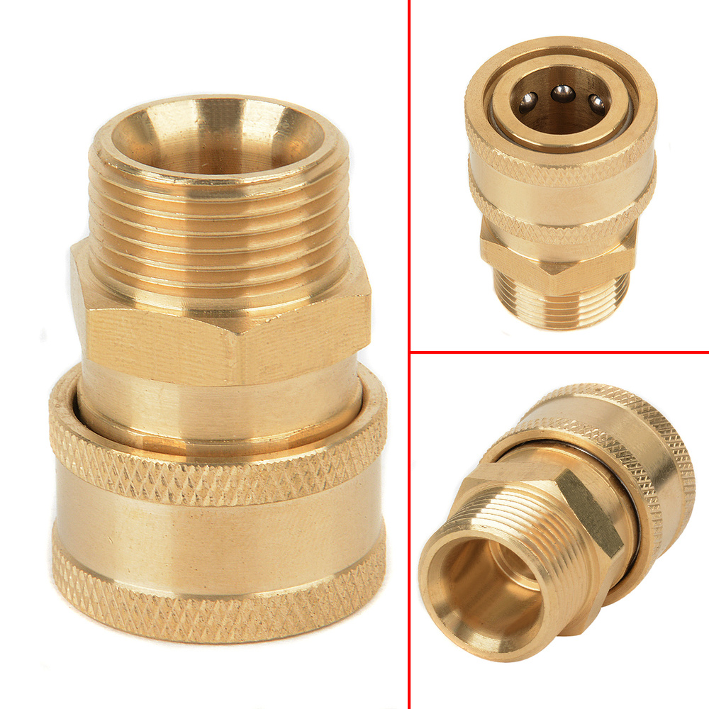 4pcs Pressure Washer Quick Connector Easy Connect Fitting Male//Female Thread