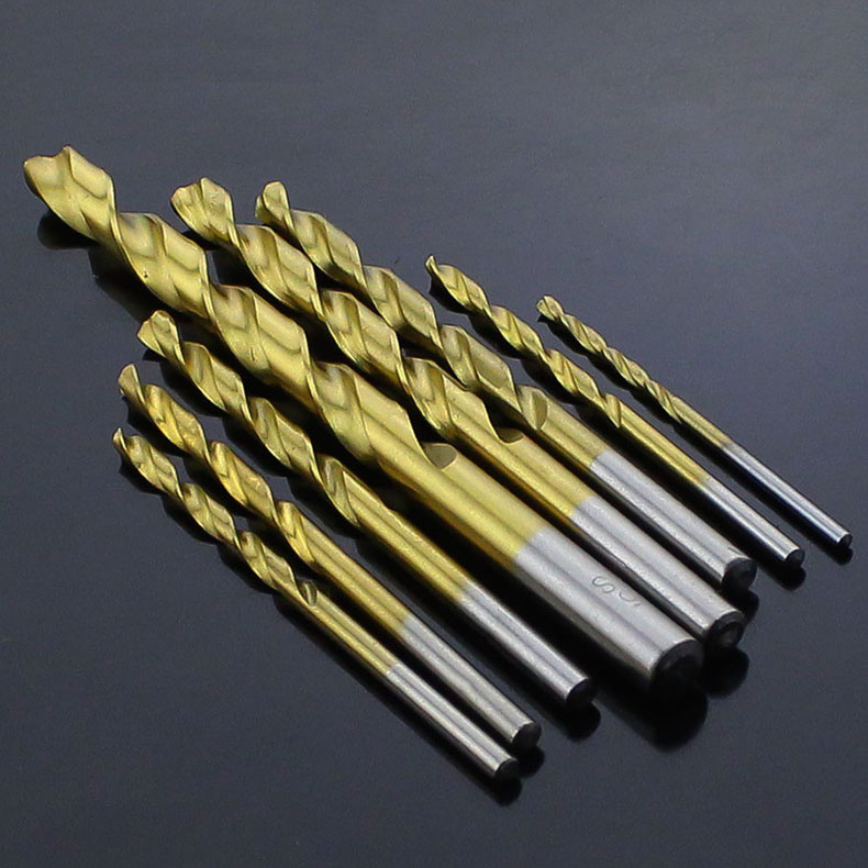 3.1mm 3.2mm 3.3mm 3.4mm 3.5mm 3.6mm 3.7mm High Speed Steel HSS Titanium Coated Metal Wood Plastic Straight Shank Twist Drill Bit