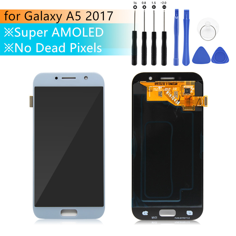 Super amoled for Samsung A5 2017 Display a5 2017 super amoled Touch Screen Digitizer Assembly for samsung A520 LCD repair partsSuper amoled for Samsung A5 2017 Display a5 2017 super amoled Touch Screen Digitizer Assembly for samsung A520 LCD repair parts