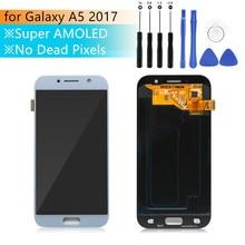 Super amoled per samsung A5 2017 Display a5 2017 super amoled Touch Screen Digitizer Assembly per samsung A520 LCD di riparazione parti