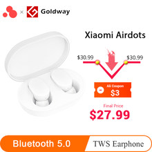Xiaomi Mijia Airdots TWS Wireless Bluetooth 5.0 In Ear Earphone Youth Version stereo bass With Mic Handsfree Earbuds AI Control(Hong Kong,China)