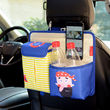 Cartoon Car Seat Storage Bag Hanging Food, Bottle, Handphone, Magazine