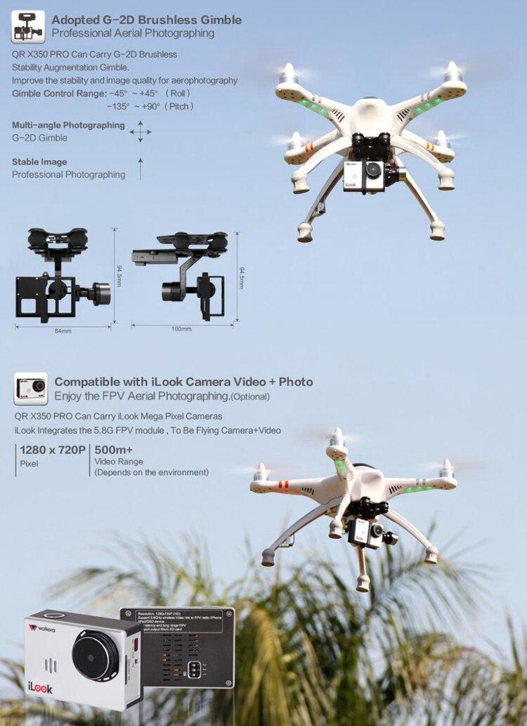 Quadcopter Drone Fotografia aérea profissional