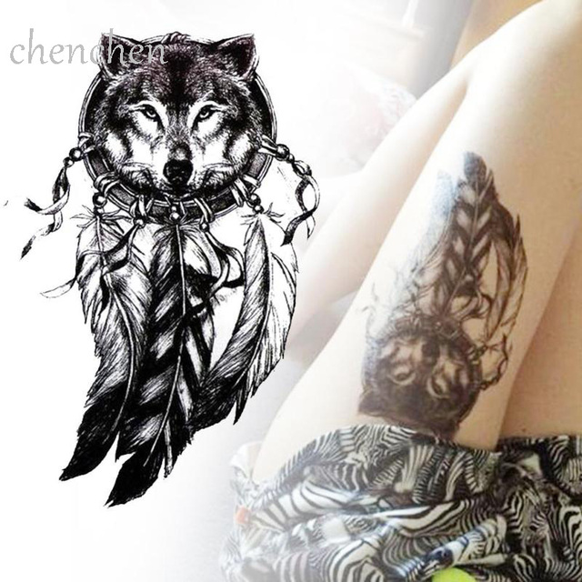 a69b0a508 Waterproof Temporary Tattoo Sticker Wolf Tiger Eagle animal forest tattoo  sticker flash tatoo fake tattoos for girl women men