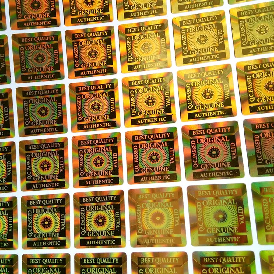 Image 2 - 15 × 15 ミリメートル 2000 個ベスト 品質 ORIGINAL GENUINE AUTHENTIC  VALID TESTED OK ホログラフィックラベルホログラムステッカーゴールド     グループ上の オフィス用品