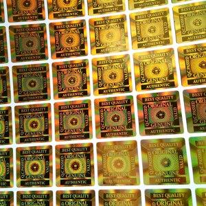 Image 2 - 15x15mm 2000pcs MELHORES QUALIDADE ORIGINAL GENUINE AUTHENTIC VALID TESTED ESTÁ BEM etiqueta Holográfica etiqueta do holograma em OURO