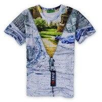 2017 casual False zipper males hiphop concert shirt O-neck sweatshirt 3d print women/mens cartoon pullover summer Tees T-shirts