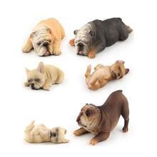 Mini Wild Simulation Bulldog Animals Action Figure Set Figur