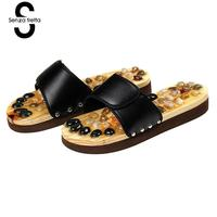 New Men Natural Massage Slippers Reflexology Shoes Foot Massager Slipper Health Care Acupuncture Slippers Shoes Summer