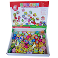 Candice guo! Colorful wooden toy stringing beads the sea puts on the rope game baby toy gift 1pc