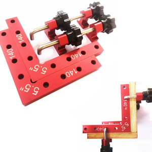 Image 2 - 2 pc 90 Degrees L Shaped Auxiliary Fixture Splicing board Positioning Panel Fixed clip Carpenters Square Ruler Woodworking tool