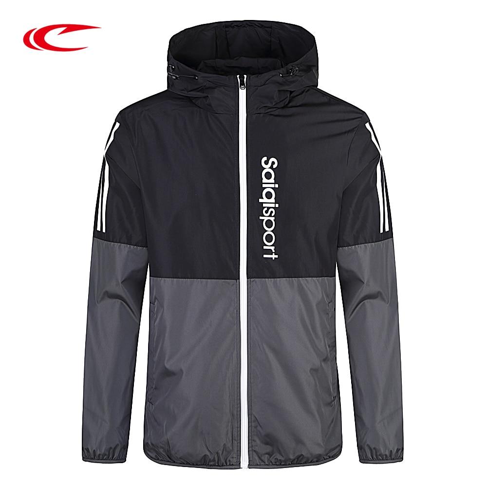 SAIQI Men's Softshell Waterproof Jackets Outdoor Sport Brand Clothing Camping Trekking Hiking Male Ski Spell Color Jacket 0921