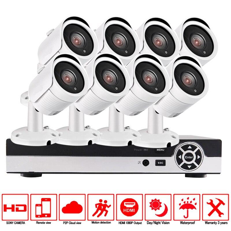 CCTV Security Camera System 8ch CCTV System 8 x 720P CCTV Camera Surveillance System Kit Camaras Seguridad Home 2TB HDD deecam cmos 1200tvl security camera cctv camera system surveillance analog high definition ahd camera 720p camaras de seguridad