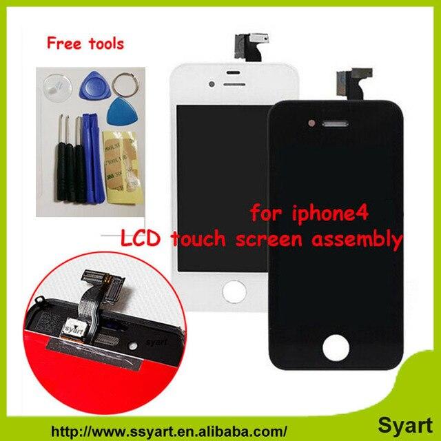 Nenhum Ponto No Dead pixel Display LCD de Toque digitador da Tela + moldura do quadro + ferramentas gratuitas substituição assembléia new hot para iphone 4 4G