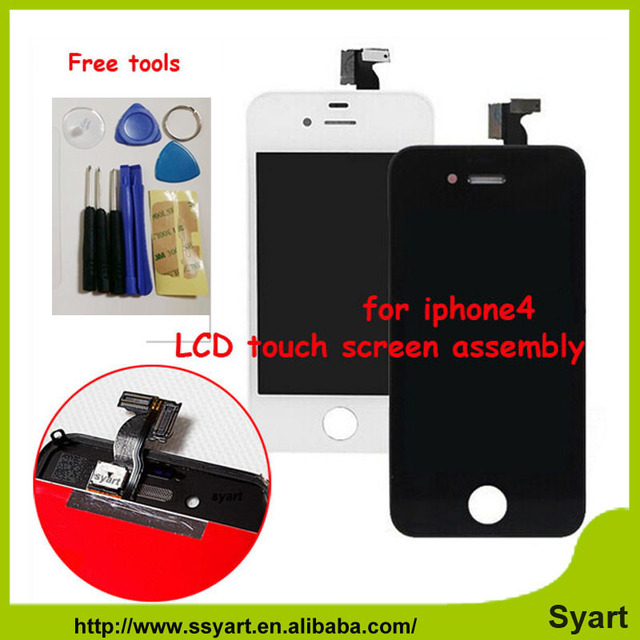 No Spot No Dead pixel LCD Display Touch Screen digitizer + Bezel Frame +free Tools Replacement Assembly HOT New For iphone 4 4G