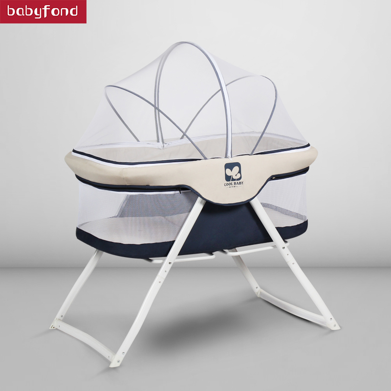 Crib European-free Installation Multi-function Shaker Baby Bed Foldable Portable Small Travel Cradle Bed