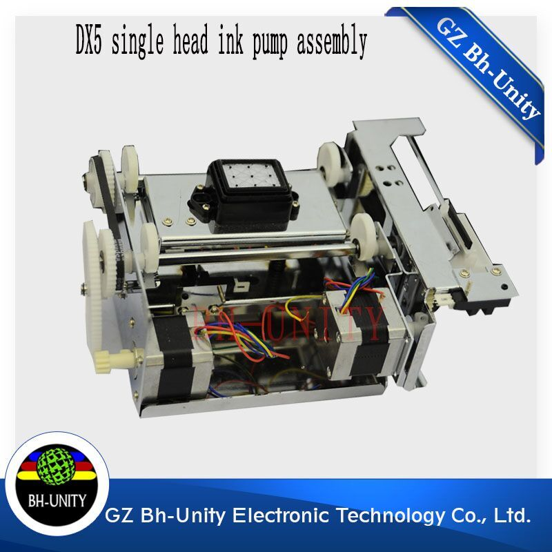Wholesales!! allwin human yeselan inkjet printer machine dx5 single head ink pump assembly for sale hot sale single dx5 ink pump assembly for flora versacamm leopard large format printer machine