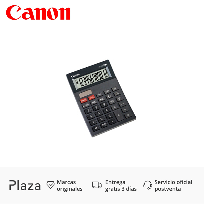Canon AS 120 Pocket PC Calculator Display 12 Digits Gray