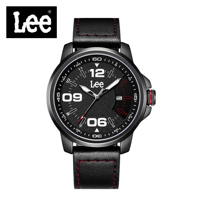 Lee Mens Watches Fashion Casual Sport Black Leather Watch Male Clock Man Army Military Quartz Wristwatch Relogio Masculino M71