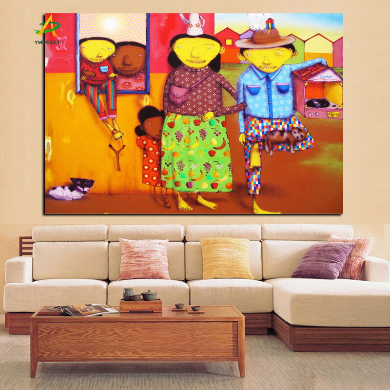 Aliexpress Buy YWDECOR HD Print Brazilian Graffiti Artists Street Art Oil Painting On Canvas Wall Picture Poster For Living Room From
