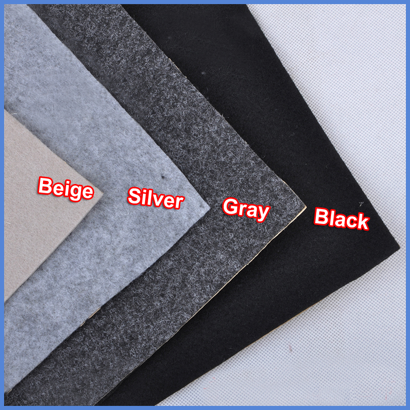 Beige/Silver/Gray/Black Speaker Cloth Self-Adhesive Felt Subwoofer Box Tape Strip Patch Sound Absorption Anti-seismic 1.0x0.5m