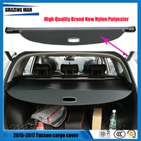 Quality case Rear Boot Luggage Cargo Cover Parcel Shelf Car styling accessories For Tucson 2015 2017