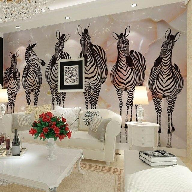 US $9.0 40% OFF|Beibehang Custom tapete Afrikanischen steppe zebra TV  hintergrund wand malerei wohnzimmer schlafzimmer hintergrund wandmalereien  3d ...