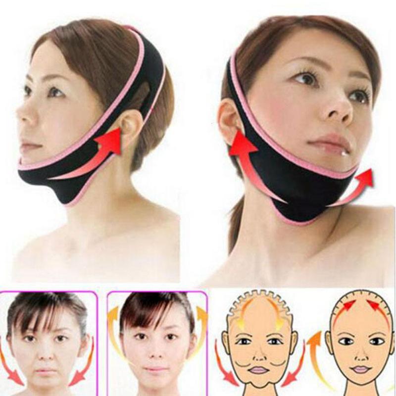 Подтяжка лица тонкий пояс подтяжки лица для похудения уход за кожей пояс против морщин 3D V-Line Тонкий лице shaper уменьшить двойной подбородок L4
