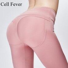 купить High Waist Leggings Women Solid Yoga Pants Push Up Professional Running Fitness Gym Sport Pants Lady Tight Stretch Long Trouser дешево