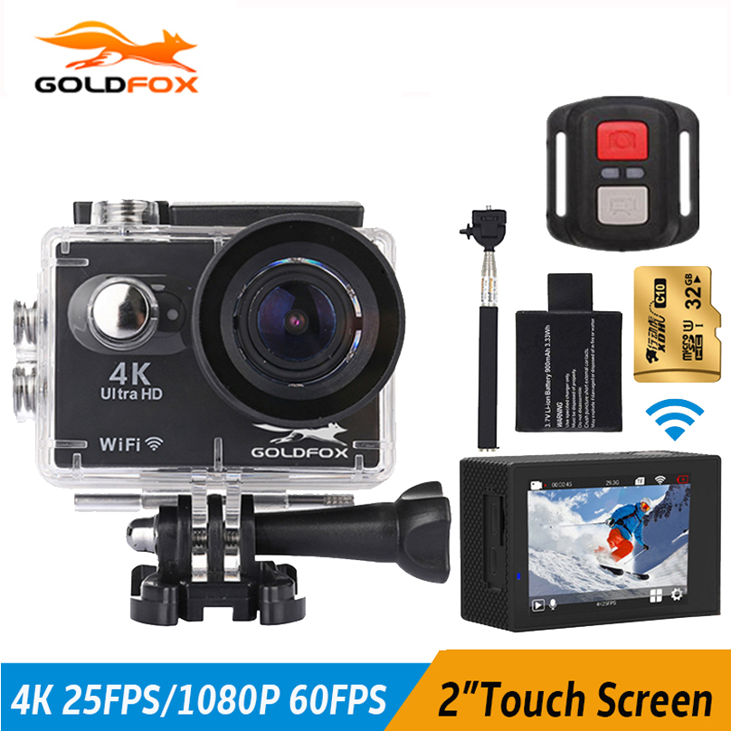GOLDFOX 2 inch Touch Screen 4K Action Camera 1080P Wifi 16MP Camcorder 30M Go Waterproof Pro Sport DV 1080P 60Fps Sports Camera