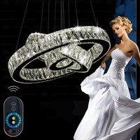 LED Pendant Lights Modern LED Lamp Diamond Rings LED Crystal Lighting Dinning Room Lustre Kroonluchters Pendant