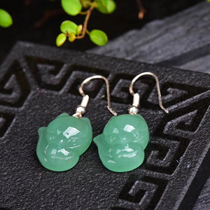 Image 2 - Hurtownie naturalne kryształowe kolczyki Caved Fox spadek kolczyki szczęście dla kobiet dziewczyna prezent kryształ biżuteria