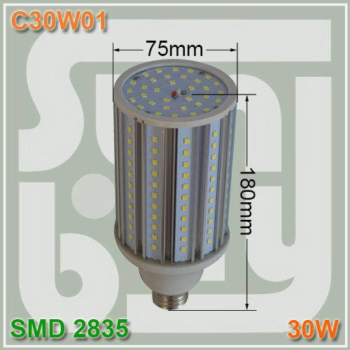 Free shipping Aluminum corn light 30W 360 degree SMD2835 LED bulb lamp high quality 30W corn light E27 E40 available free shipping aluminum corn light 30w 360 degree smd2835 led bulb lamp high quality 30w corn light e27 e40 available