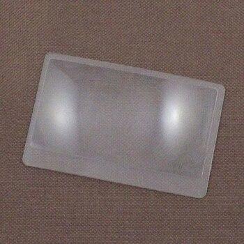 3 lupa aumentador de aumento Fresnel bolsillo tarjeta de crédito tamaño lupa transparente