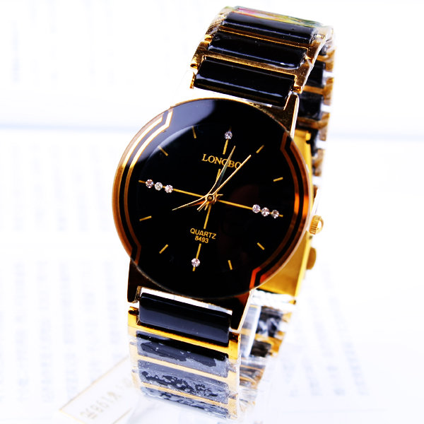 Brand Luxury Ceramic Man Dress Present Vattentät Relogio Watch Fashion Rhinestone utsökt present man Klocka Business Armbandsur