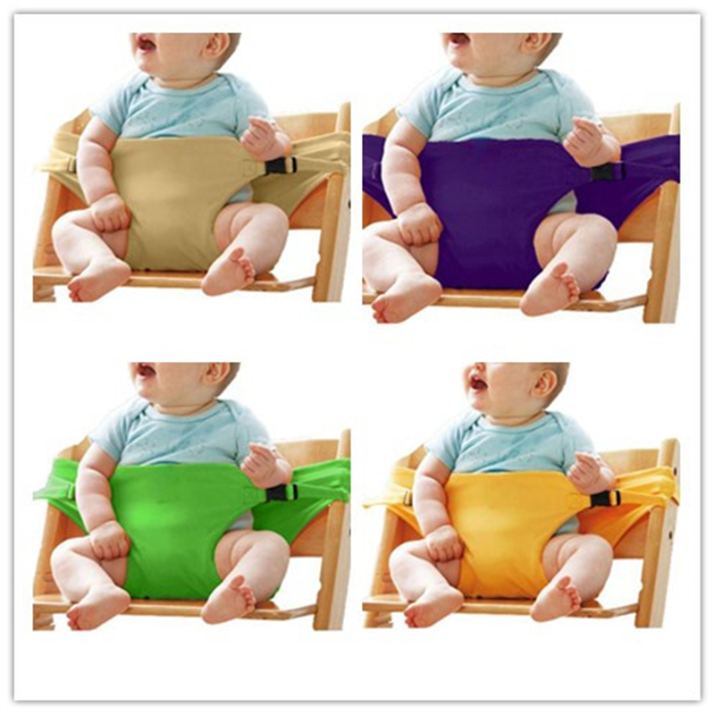 Baby Feeding Dining Chair Booster Seat Safety Belt Portable Lunch Stretch Wrap Chair Harness