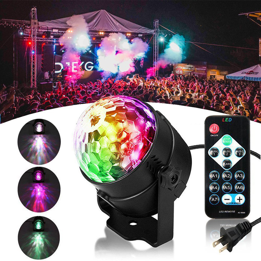LED Disco Ball DJ Party lights RGBW Sound Activated Water Wave Ocean Projector Strobe Stage Light for Home Stage Wedding Holiday diameter 60cm led rgbw wedding ball light