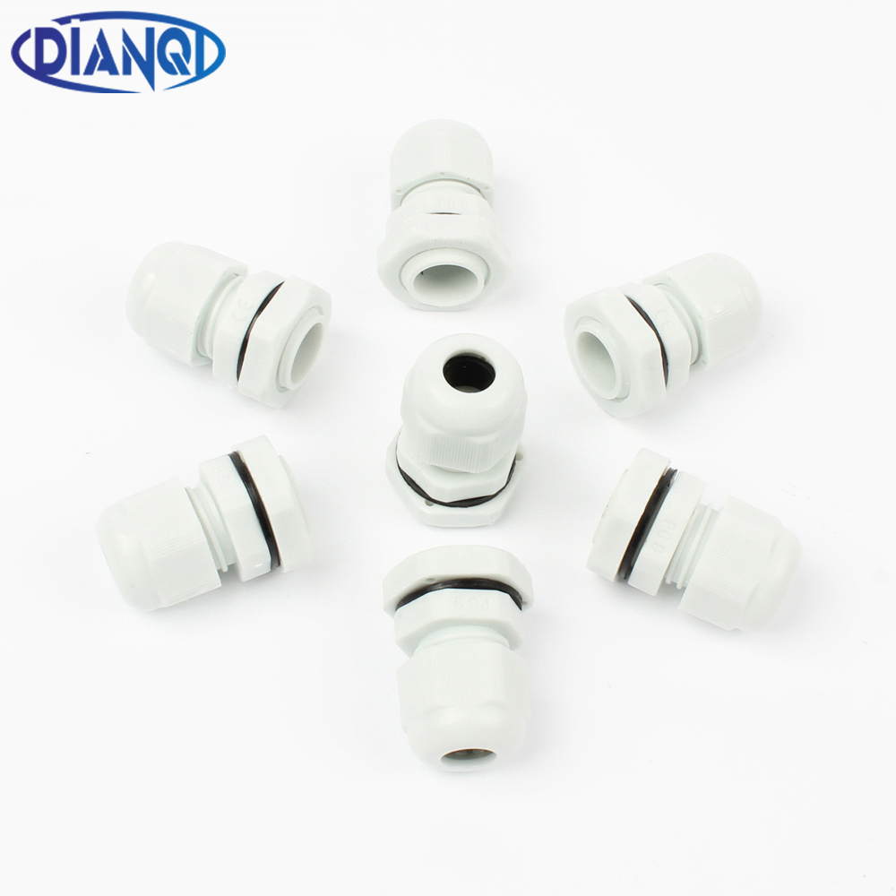 High Quality IP68 PG9 4-8MM Waterproof Nylon Cable Gland Waterproof Gasket Plastic Waterproof Connector waterproof black ip68 plastic cable wire connector gland electrical 4 cable junction box with terminal