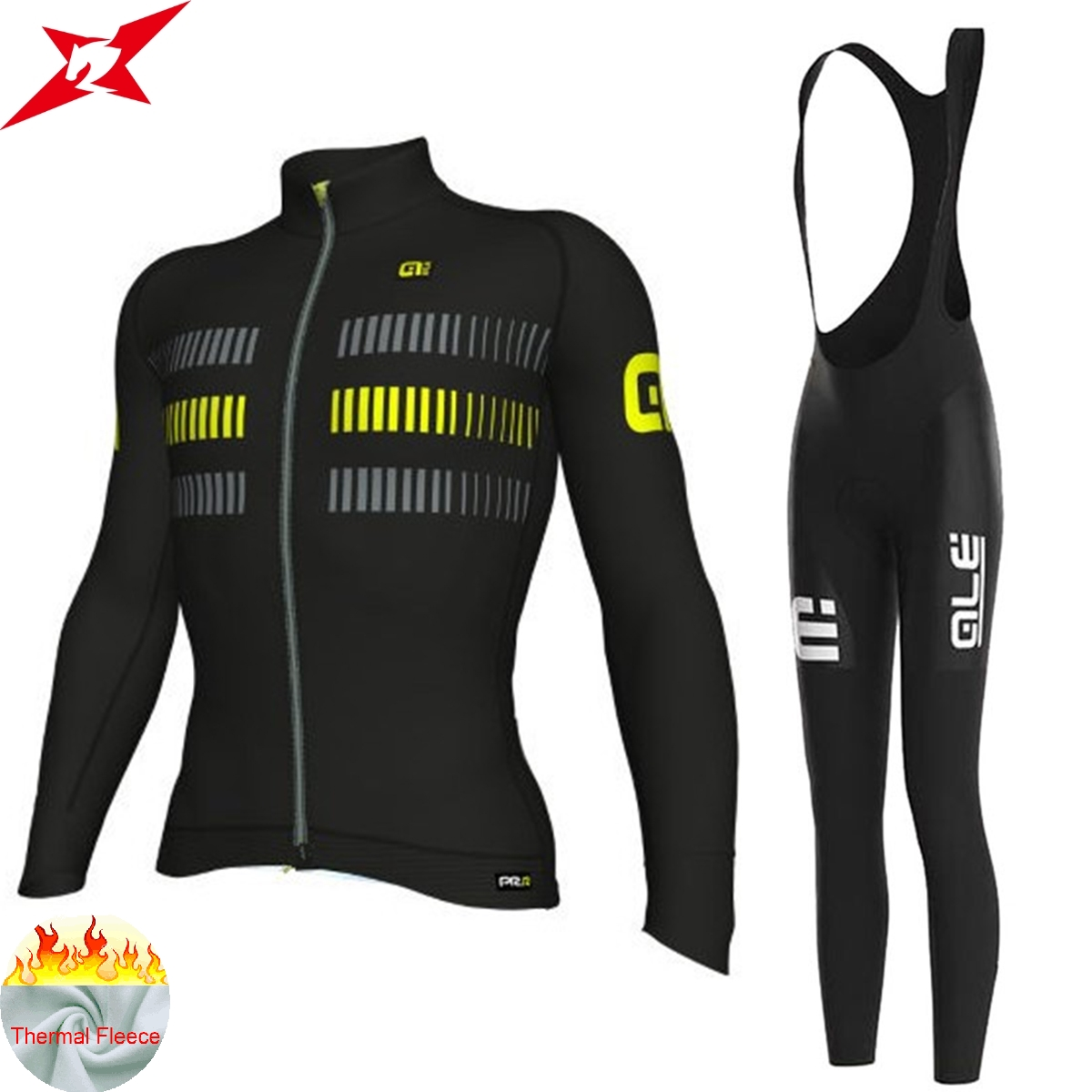 2017 ALE New Style Long Sleeve winter Cycling Clothing Bib Set Men Bike Clothes Ropa Maillot Ciclismo with 9D Gel Pad #609 2017 mavic maillot ciclismo zebra pattern men personality long sleeve cycling breathable bike bicycle clothes polyester s 6xl