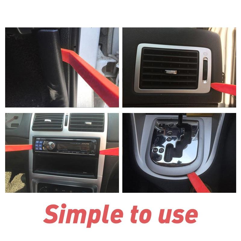 11PCS/Set Car Plastic Trim Removal Tool Audio Door Panel Open Molding Set Kit Pouch Pry Tool Auto Interior Hand Tools New