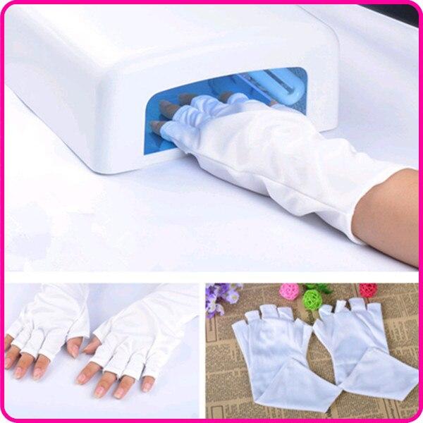 ZKO 1 пара профессиональная художественная перчатка для ногтей, УФ-лампа, защита от излучения, перчатки из бамбукового волокна для дизайна но...