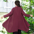 Spring Autumn Solid Color Casual Coat Linen Trench Coat Windbreaker Cloaks Fashion Women New Outwear